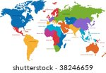 united nations divides the... | Shutterstock . vector #38246659