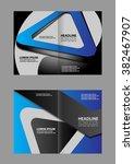 professional business brochure... | Shutterstock .eps vector #382467907