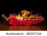 red hot chili pepper  very hot   Shutterstock . vector #38247136