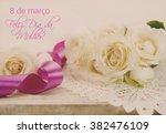 8 de marco feliz dia da mulher... | Shutterstock . vector #382476109