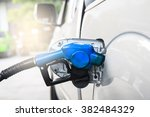 fuel nozzle to refill fuel in... | Shutterstock . vector #382484329