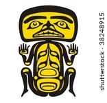 vector. drawn north coast art... | Shutterstock .eps vector #38248915