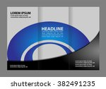 corporate business tri fold... | Shutterstock .eps vector #382491235
