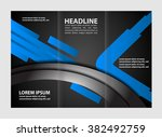 vector empty tri fold brochure... | Shutterstock .eps vector #382492759