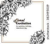 invitation with floral... | Shutterstock .eps vector #382495039