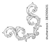 vintage baroque frame scroll... | Shutterstock . vector #382500631