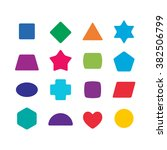 learning toys color shapes set... | Shutterstock .eps vector #382506799
