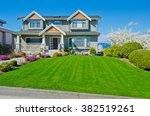 big custom made luxury house... | Shutterstock . vector #382519261