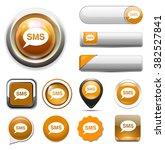 sms bubble button   Shutterstock .eps vector #382527841