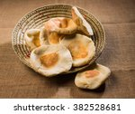 freshly baked arabic bread. a... | Shutterstock . vector #382528681