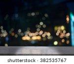 wood floor with blurred... | Shutterstock . vector #382535767