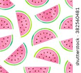 Seamless Watermelon Pattern In...