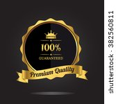 premium quality guaranteed... | Shutterstock .eps vector #382560811