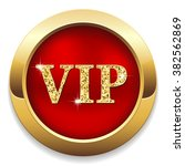 red vip button with gold border ... | Shutterstock .eps vector #382562869