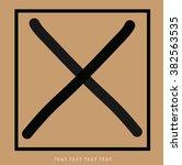 wrong mark icon vector. | Shutterstock .eps vector #382563535