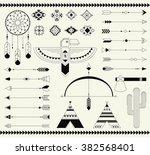 navajo american isolated... | Shutterstock .eps vector #382568401