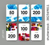 gift coupon  discount card... | Shutterstock .eps vector #382569811