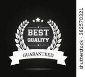 best quality label  with laurel ... | Shutterstock .eps vector #382570321