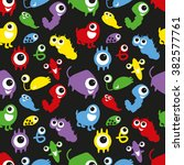 coloured seamless pattern with... | Shutterstock .eps vector #382577761