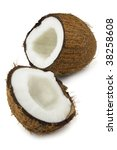 Ripe coconut - stock photo