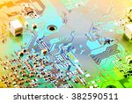 electronic circuit board close... | Shutterstock . vector #382590511