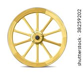 Wagon Wheel. Vector...