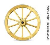 Wagon Wheel. Vector...