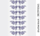 decorative vector border with... | Shutterstock .eps vector #382593361