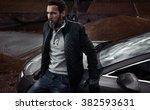 portrait of a mature handsome... | Shutterstock . vector #382593631