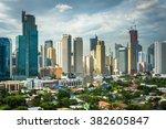 view of the skyline of makati... | Shutterstock . vector #382605847