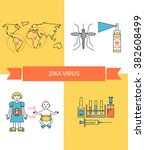 zika virus infographic ... | Shutterstock .eps vector #382608499