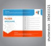vector modern brochure ... | Shutterstock .eps vector #382611121