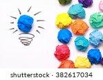 Crumpled Blue Paper Light Bulb...