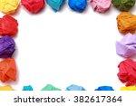 Multi Colored Crumpled Paper...