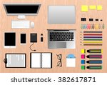 workplace concept | Shutterstock .eps vector #382617871