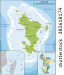 map of mayotte | Shutterstock .eps vector #382618174