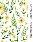 seamless watercolor yellow... | Shutterstock . vector #382626364