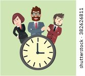 punctual business team | Shutterstock .eps vector #382626811