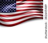 america of silk with copyspace... | Shutterstock . vector #382645489