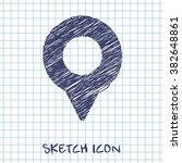 geo marker pin vector doodle...