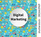digital marketing abstract... | Shutterstock .eps vector #382663969