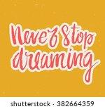 vector calligraphy. hand drawn... | Shutterstock .eps vector #382664359