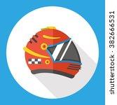 racing helmet flat icon | Shutterstock .eps vector #382666531