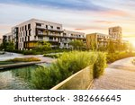 residential building in the... | Shutterstock . vector #382666645
