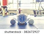 time for exercising alarm clock ... | Shutterstock . vector #382672927