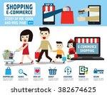 shopping e commerce infographic ... | Shutterstock .eps vector #382674625