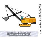 power shovel excavator. heavy... | Shutterstock .eps vector #382676659