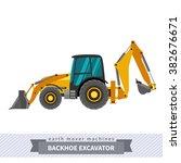 backhoe excavator. heavy... | Shutterstock .eps vector #382676671