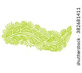 nature pattern card with... | Shutterstock .eps vector #382681411