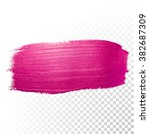 vector pink watercolor brush... | Shutterstock .eps vector #382687309